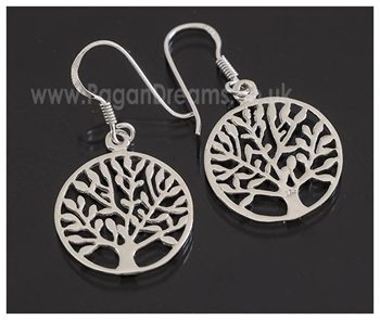 Picture of Tree Of Life Earrings - Sterling Silver