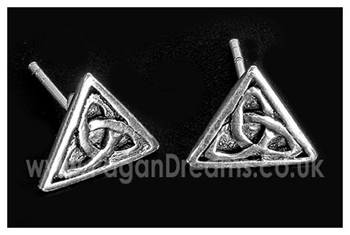Picture of Triquetra Stud Earrings (Sterling Silver)
