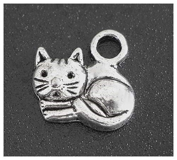 Picture of Cat (Curled Up) Charm - Pack 20