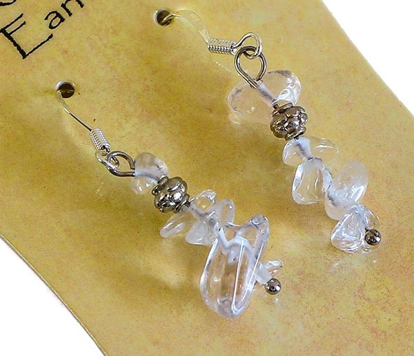 Picture of Gemstone Chip Earring (Clear Quartz)