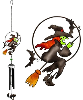 Picture of Witch On Broomstick - Sun Catcher And Chime