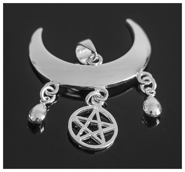Picture of Wicca Moon Blessing Pendant (Sterling Silver)