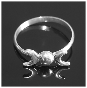 Picture of Triple Moon Ring (Sterling Silver)