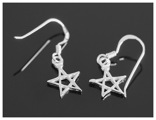 Picture of Pentagram Drop Earrings (Sterling Silver)