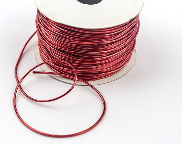 Picture of Elastic Cord - Christmas Red (Per Meter)