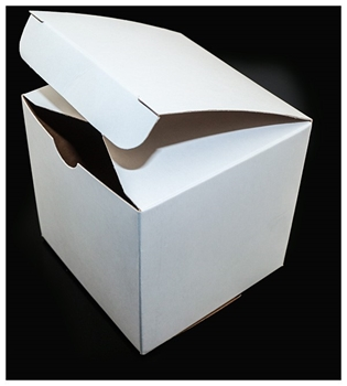 Picture of Box - White Card  Pk 5 (95x95x95mm)