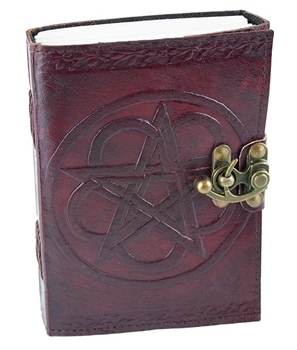 Picture of Leather Journal With Lock - Pentagram