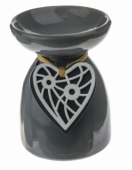 Wooden Heart Oil Burner Image