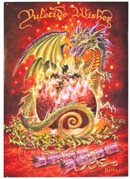 Picture of Yule Card - Flaming Dragon Pudding