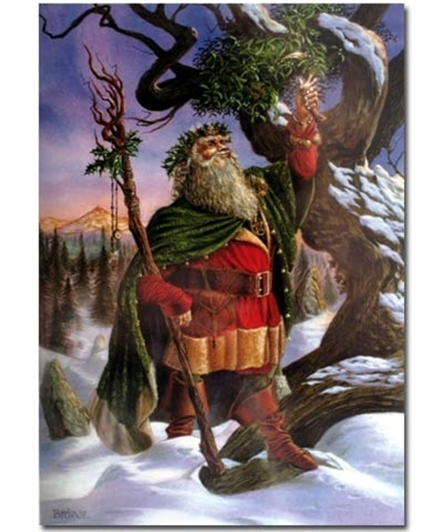 Picture of Yule Card - Gathering the Mistletoe (Briar)