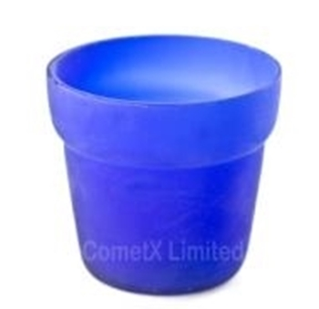 Picture of Flower Pot Candle Holders - Cobalt (Pack of 6)
