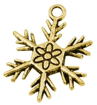 Picture of Snowflake Charm - Antique Gold Colour (Pk 10)