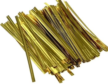 Short Gold Coloured Twist Ties Image
