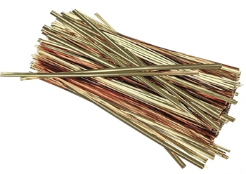 Long Gold Coloured Twist Ties Image
