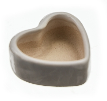 Mini Ceramic Heart Candle Container image