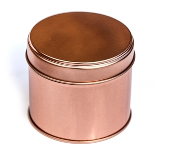 Rose Gold Coloured Candle Tin Picture