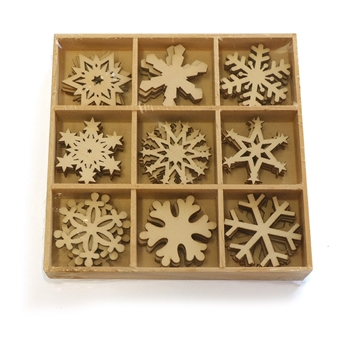 Wooden Snow flake Shapes Picture
