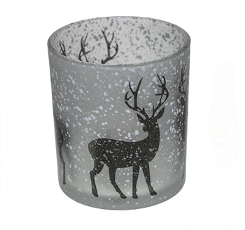 Winter Reindeer Candle Holder Image