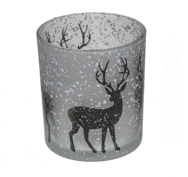 Winter Reindeer Candle Holder Image