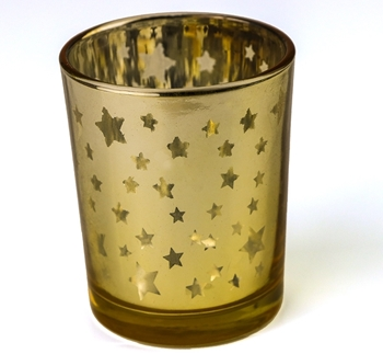 Gold Metallic Candle Holder Image