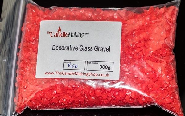 Red Decorative Glass Gravel Bag Image