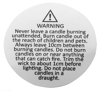 Small safety  Warning Labels image
