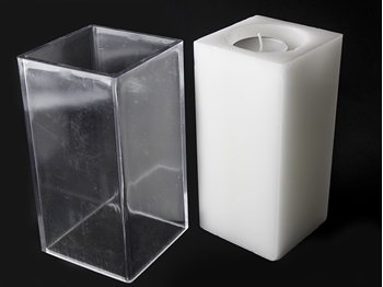 Square Tea Light Holder Mould Image
