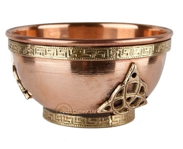 Picture of Triquetra - Offering Bowl (Copper and Brass 3inch)SYL