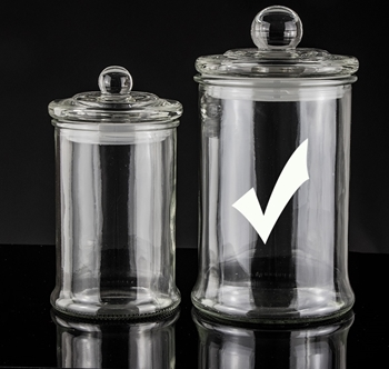 Picture showing large straight sided candle jar with stopper