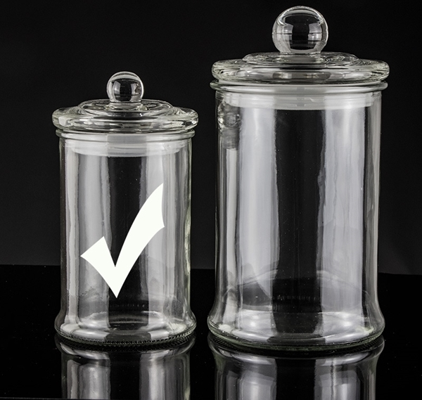 Picture showing small straight sided candle jar with stopper