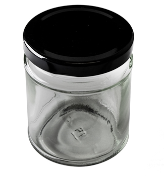 Picture of Large Candle Jar with Black Lid