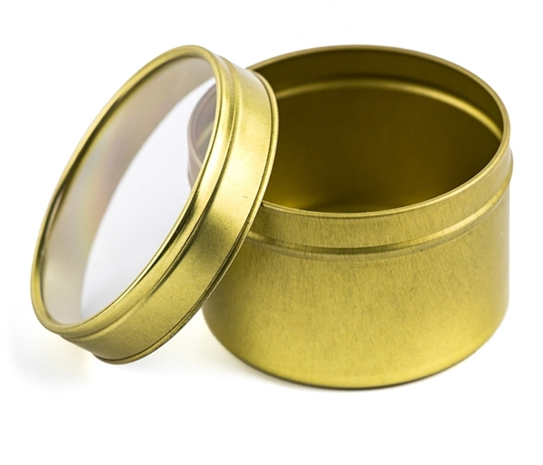 Picture of Gold Candle Tin 61x42mm