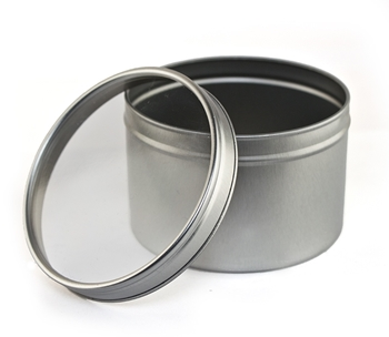 Picture of Large Candle Tin with window lid - 95x62mm